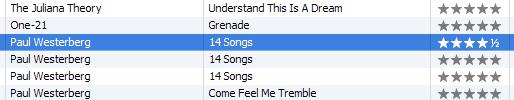 Half Star Rating in iTunes